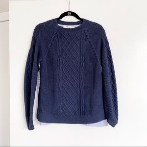 Vineyard Vines Sweater with PinStriped Shirt Back